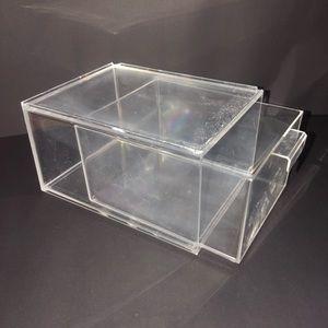 Clear acrylic sliding drawer organizer